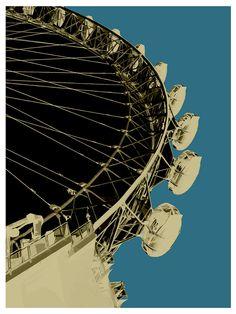 POP Art, London Eye, Online Art Gallery, Big Fat Arts, BFA Gallery, Czar Catstick, Baxter Cane
