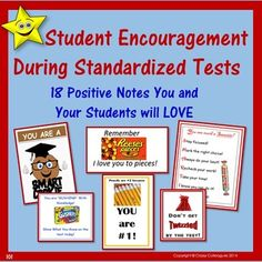 A creative way to positively encourage your students to do their best on standardized tests. $