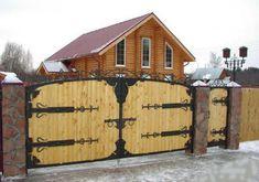 Картинки по запросу забор дерево и металл