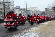 One more photo from the Santa Claus motorcycle's parade.