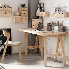 Astigarraga kit line Diy Office Desk, Diy Desk, Home Office Desks, Diy Bedroom Decor, Home Decor, Room Inspiration, Sweet Home, House Design, Interior Design