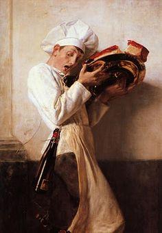 """""""The Pantry Man"""" (1898) by Nikolaos Gyzis (1842-1901). Greek Painter"""