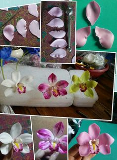1 million+ Stunning Free Images to Use Anywhere Sugar Paste Flowers, Wafer Paper Flowers, Icing Flowers, Buttercream Flowers, Fondant Flowers, Polymer Clay Flowers, Polymer Clay Crafts, Fondant Flower Tutorial, Plaster Crafts