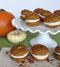 Pumpkin Whoopie Pies with Maple Whiskey Filling