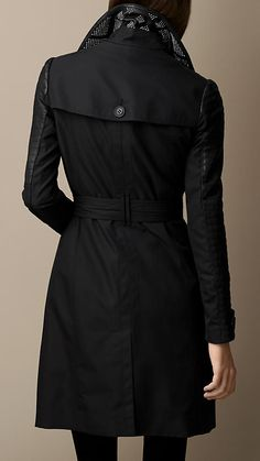 Leather and Stud Detail Trench Coat | Burberry Brit