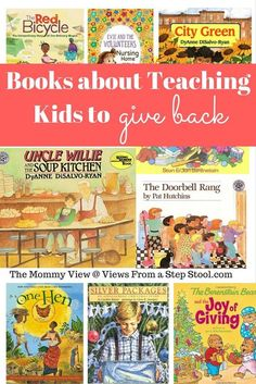 KINDNESS This selection of books for teaching kids to give back and help others is for a range of kids from preschool to elementary and tween, and includes some real life examples of kids that have made a difference. Good Books, My Books, Books For Kids, Library Books, Preschool Books, Preschool Ideas, Green Books, Character Education, Kids Education