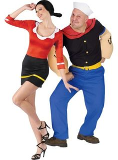 Shop for Sexy Olive Oyl & Popeye Couples Costumes and other Couples Costumes onl. - Shop for Sexy Zombie Couple Costume, Funny Couple Costumes, Cute Couple Halloween Costumes, Looks Halloween, Homemade Halloween Costumes, Family Costumes, Zombie Costumes, Halloween Couples, Group Costumes