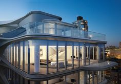 520 west 28th is a series of 39 luxury condos in new york's chelsea neighborhood, forming zaha hadid's first residential project in the city.