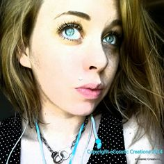 Handcuff me Silver Necklace Trendy Cool Bad by eCosmicCreations Girls Jewelry, Skull And Bones, Custom Jewelry, Skulls, Turquoise Necklace, Cool Stuff, Awesome, Silver, Blue