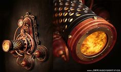 These Steampunk Lamps Look Like Something Out Of A Video Game