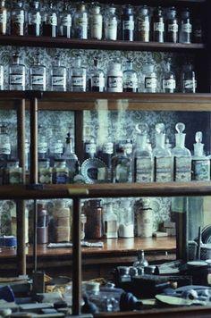 apothecary jars. #bathrooms