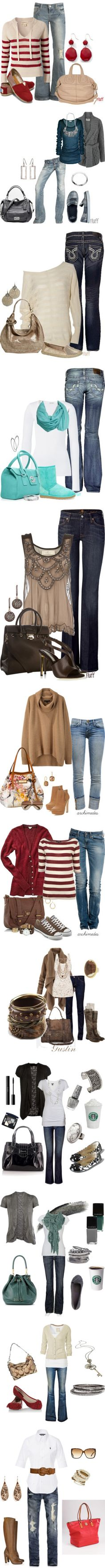 Might have to get rid of the heels but these are some seriously cute outfits!