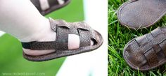 Leather baby sandals. Too bad the summer is almost over... For the next baby perhaps.