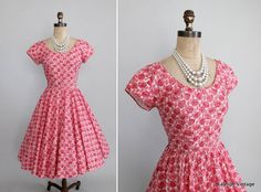 1950s Jerry Gilden dress with rhinestone accents