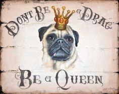(14561) Pug (beige) Dog Picture/print Wooden Sign - Product Id 7916 from Gift Wrapped & Gorgeous
