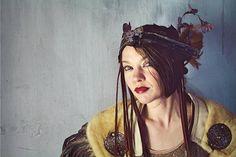 Faerie Floral Headpiece / Nature Spirit Headband / Faerie www.RPDesignHouse.etsy.com #darkfashion #cosplay #costume  #headdress  #leatherwork #headband #gothfashion #performance #film