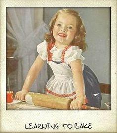 Learning to bake at grandma's house