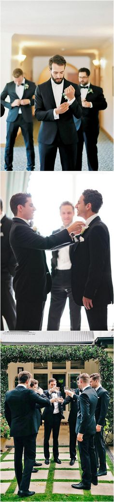 getting ready wedding photo ideas with groomsmen