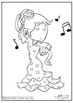 Dibujos de la Feria de Abril - Manualidades Infantiles