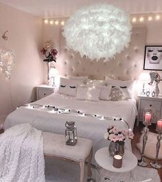 21 Beautiful Dream Rooms Ideas Looking for inspiration for remodel your dreamy room? Here are some ideas to make your dreamed room become reality! check out beautiful room ideas for your inspirations! Cute Room Ideas, Cute Room Decor, Teen Room Decor, Room Ideas Bedroom, Cozy Bedroom, Dream Bedroom, Bedroom Small, Bedroom Rustic, Master Bedroom