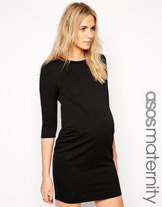 New+Look+Maternity+Textured+Bodycon+Dress
