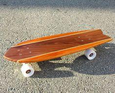 walnut, mahogany, with maple stringers pescado #skateboard #six72woodworks