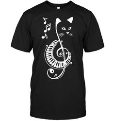 Cat Music Piano Sister Shirts, Cat Shirts, Family Shirts, I Love Cats Shirt, Cat Store, Music Jewelry, Piano Music, Birthday Shirts, Gifts For Family