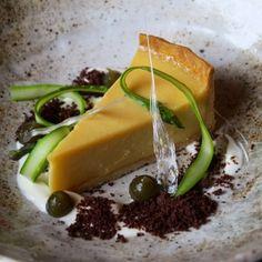 Paul Welburn  Asparagus tart, green olive and chocolate