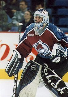 3b8fae303 The great Avalanche (and Canadiens) goaltender Patrick Roy. Kick save and a  beauty by Roy! Avs fans miss you Patty!