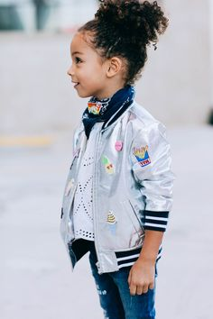 Cool bomber silk jacket for Kids