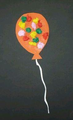 Balloons for the little ones - Carnival crafts - My grandchildren Luftballons für die Kleinsten – Fasching-basteln – Meine Enkel und ich Balloons for the little ones – Carnival crafts – My grandchildren and me - Daycare Crafts, Toddler Crafts, Preschool Crafts, Diy Crafts For Kids, Arts And Crafts, Paper Crafts, Preschool Age, Theme Carnaval, Carnival Crafts