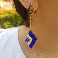Beaded Earrings, Drop Earrings, Brick Stitch Earrings, Bead Art, Beaded Embroidery, Projects To Try, Beads, Edwin, Videos
