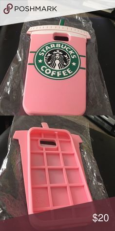 New Starbucks s7 Samsung phone case New pink Starbucks silicone Samsung s7 iPhone cover Accessories Phone Cases