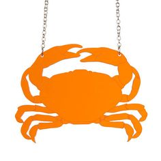 Crab necklace  laser cut acrylic by sugarandvicedesigns on Etsy, £13.00