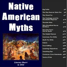 An exciting and engaging unit on Native American Myths for grades 6-8! This multi-disciplinary unit can be taught in either ELA or Social Studies. Students read and analyze a variety of NA myths through close reading, scaffolded note-taking, and the use of graphic organizers. Then they write their own myth or legend! #nativeamericanmyths  #middleschoolela