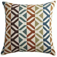 Chenille Geometric Pillow @ Pier One Fluffy Pillows, Fall Pillows, Couch Pillows, Throw Pillows, Cushions, Living Room Red, Living Room Inspiration, Garden Inspiration, Geometric Pillow
