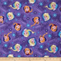Disney Frozen Sisters Ice Skating Heart Framed Purple from @fabricdotcom  From Springs Creative Group and licensed by Disney, this cotton print fabric is perfect for quilting, apparel and home decor accents. Colors include yellow, orange, pink, blue, and shades of purple. Due to licensing restrictions, this item can only be shipped to USA, Puerto Rico, and Canada.