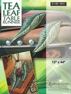 Tea Leaf Table Runner - Paper Piecing Pattern by Judy Niemeyer