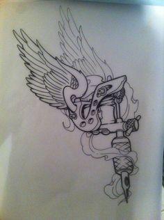 tattoo gun by 5stardesigns