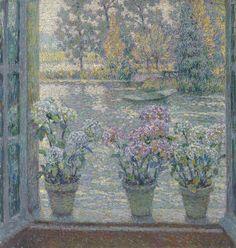 Henri Le Sidaner. Hydrangeas, 1918