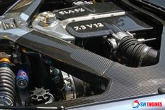 #SWEngines Aston Martin One-77.You will find a 7.3 liter V12 engine under the hood of an Aston Martin One-77.