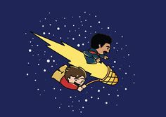 Fan art by Ana Zugaib from Brazil - Drs. Sagan and Tyson riding through the cosmos! If you'd like to pin to StarTalk, send your email address to stacey@startalkradio.net