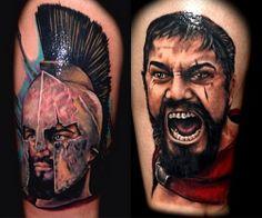 THIS IS SPARTAAAAAAAAAA! Tattoo by Roman