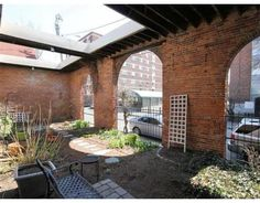 Awesome use of architectural detail in outdoor patio #Boston