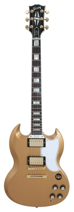 Gibson Custom Shop SG Custom 2 Pickup All Gold Electric Guitar Rainbow Guitars Gibson Epiphone, Gibson Guitars, Fender Guitars, Acoustic Guitars, Sg Guitar, Cool Guitar, Ukulele, Slide Guitar, Gretsch