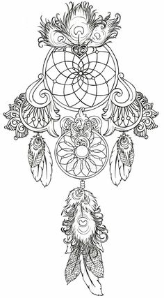 Animal Coloring Pages Dream Catchers | Dream Catcher Tattoo by ~Metacharis on deviantART