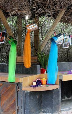 Bright Colours, Party Theme, Year End Function, Decor, Festive Colours, Paint Tins, Parasols