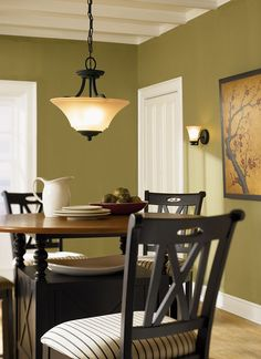 The two light Somerton chandelier by Seagull Lighting brings a unique finish to your dining room!