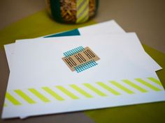 Washi Cards 2 by CieraHolzenthal, via Flickr | Washi Tape Ideas | Washi Tape Projects