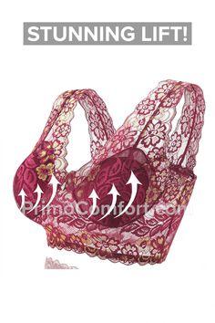 Pretty Bras, Pretty Lingerie, Bra Lingerie, Most Comfortable Bra, Flyer, Knitted Bags, Bra Styles, Stretch Lace, Lace Bra